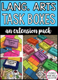 Language Arts Task Boxes