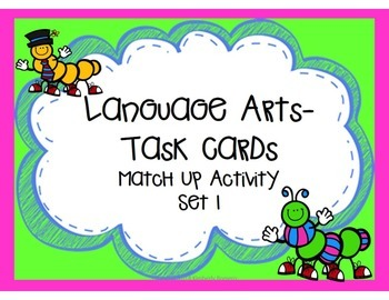 Language Arts Task Cards Set 1