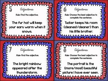 Language Arts Task Cards {Adjectives}