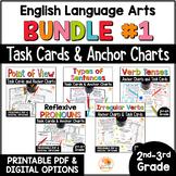 Language Arts Task Card and Anchor Chart MEGA BUNDLE for 2nd-3rd Grade