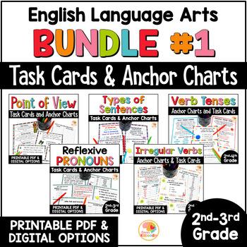 Language Arts Task Card and Anchor Chart MEGA BUNDLE for 2