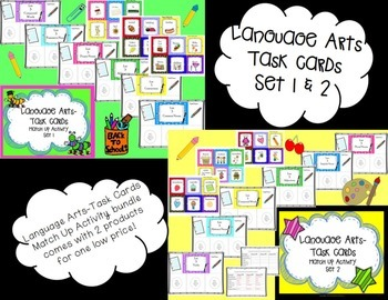 Language Arts Task Cards Bundle