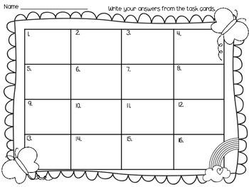 Language Arts Task Cards (Grade 1)