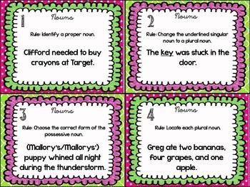 Language Arts Task Cards {Nouns}