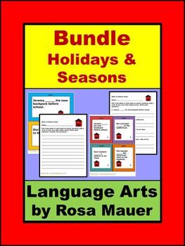 Language Arts Bundle with Holiday and Seasonal Activities