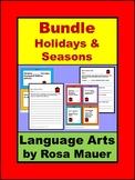 Language Arts Bundle with Holiday and Seasonal task Card &