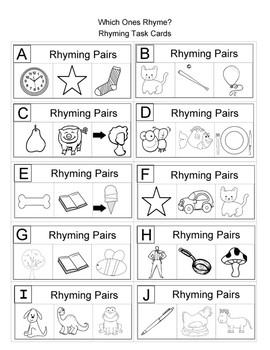 Language Arts Task Cards for 1st Grade
