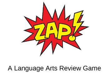 Language Arts Term Review Zap Game