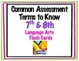 Language Arts Terms: 7th & 8th Grade Test Prep Flash Cards