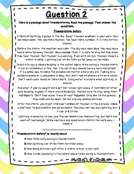 Language Arts Test Prep (Main Idea, Author's Purpose) Task Cards Set 9