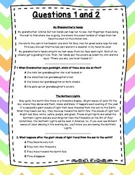 Language Arts Test Prep (Story Elements) Task Cards Set 20
