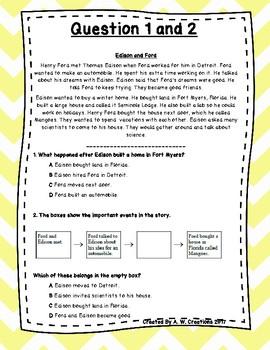 Language Arts Test Prep (Story Elements) Task Cards Set 16