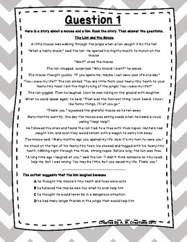 Language Arts Test Prep (Story Elements and Inferences) Task Cards Set 19
