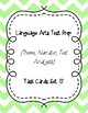 Language Arts Test Prep Task Cards Set #17 (Theme, Narrator, Text Analysis)