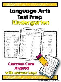 Language Arts Test Prep for Kindergarten