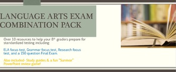 Language Arts Testing Combo Pack 8th Grade- Save $$