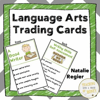Assessment Trading Cards For the Language Arts