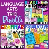 Language Arts Trio BUNDLE: Reading Skills   Grammar   Figurative Language