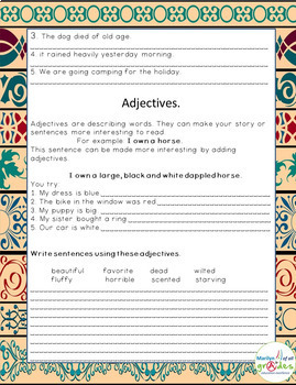 Grammar, Writing & Research Unit - Set 2 - Sub Tubs - Worksheets - Practice