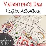 Language Arts Valentine's Day Center Activities