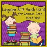 Language Arts Vocabulary Cards (1st Grade Common Core)