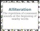 Language Arts Vocabulary Terms and Definitions