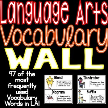 Language Arts Vocabulary Word Wall