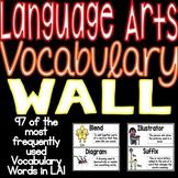 Language Arts Vocabulary Word Wall