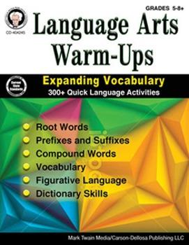 Language Arts Warm-Ups Grades 5-8 SALE 20% OFF 404245