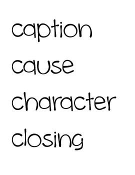 Language Arts Word Wall