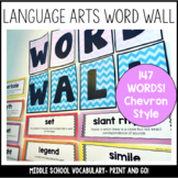 Language Arts Word Wall