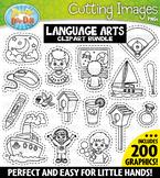 Language Arts Words Cutting Images Clipart Bundle 1 {Zip-A-Dee-Doo-Dah Designs}