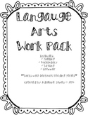 Language Arts Work Pack-First Grade