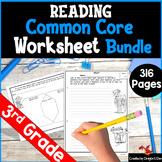 Language Arts Worksheet Bundle for 3rd Grade  Print and Digital