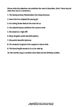 Language Arts Worksheet Packet
