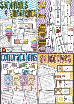 Language Arts Worksheet and Centre Bundle