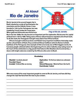 Language Arts Worksheets for the Summer Olympics