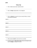 Language Arts Writing A Play Script Basic Outline Template