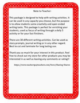 Language Arts Writing Task Cards