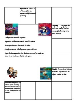 Language Arts and Literary Terms Games Packet