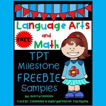 Language Arts and Math FREEBIE (Milestone Celebration #2)