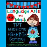 FREE DOWNLOAD : Language Arts and Math (Milestone Celebration #2)