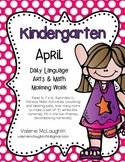 Language Arts and Math Morning Work~ APRIL (Read It, Fix I