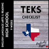 Language Arts and Reading Vertical TEKS Checklist High School