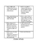Language Arts-based Cooking Activity - Chicken Alfredo