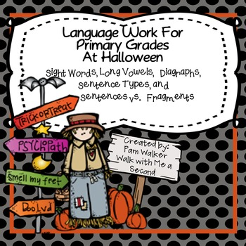 Language Arts for Halloween for 1st and 2nd Grade