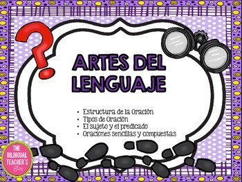 ARTES DEL LENGUAJE - ORACIONES