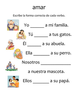 Language Arts unit on the family in Spanish (La familia en español)