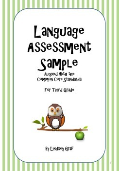 Language Assessment Sample {Free Download}