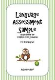 Language Assessment Sample {Free Download}
